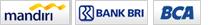 pembayaran grosir cibaduyut, Bank Mandiri, BCA, BRI