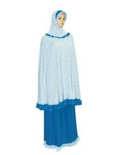 Mukenah Biru CA 544