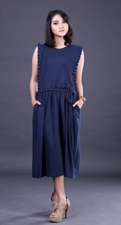 Dress Biru FER 005