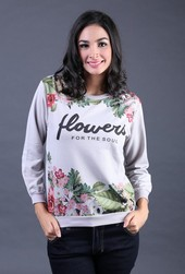 Sweater Wanita Abu FIZ 006
