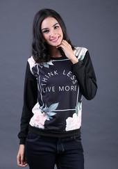 Sweater Wanita Hitam FIZ 005