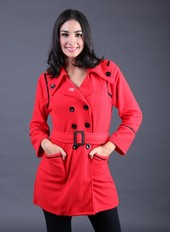 Sweater Wanita Merah FEN 002