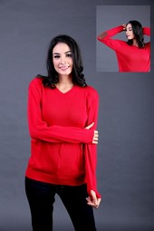 Sweater Wanita Merah FTN 005