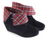 Sepatu Boots Wanita Garsel Shoes L 585
